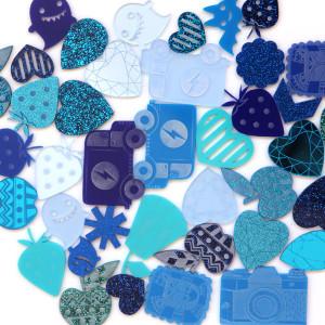 Blue Acrylics